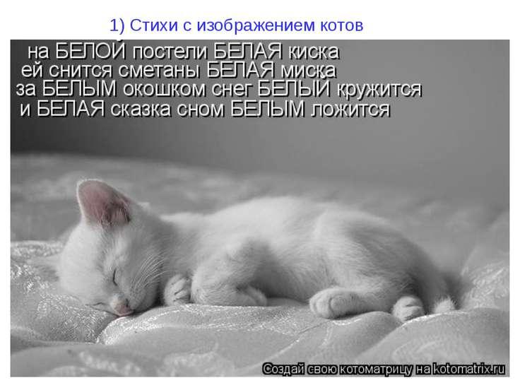 1) Стихи с изображением котов