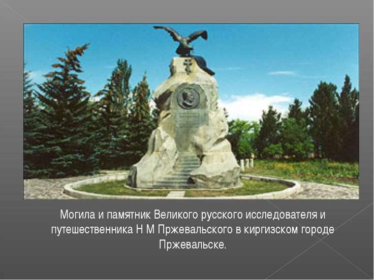 Могила и памятник Великого русского исследователя и путешественника Н М Пржев...