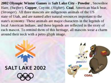 2002 Olympic Winter Games in Salt Lake City - Powder , Snowshoe Hare, (Swifte...