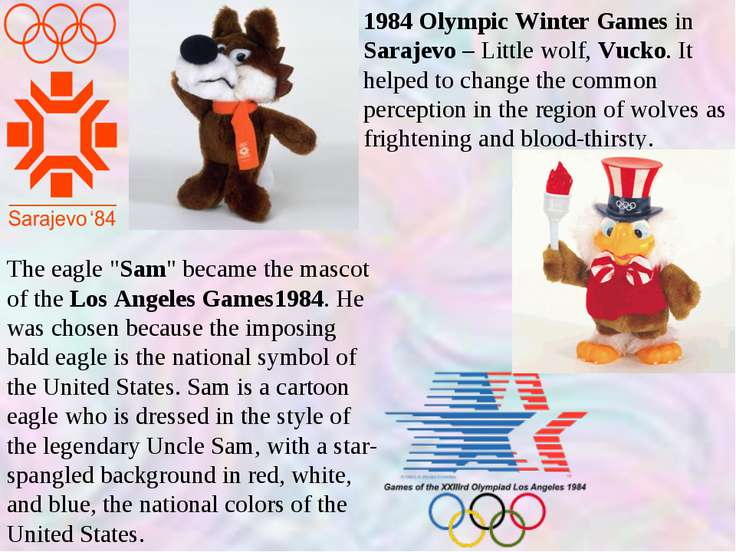 1984 Olympic Winter Games in Sarajevo – Little wolf, Vucko. It helped to chan...