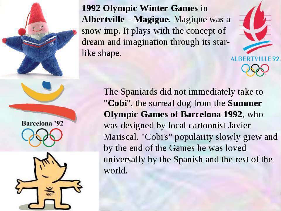 1992 Olympic Winter Games in Albertville – Magigue. Magique was a snow imp. I...