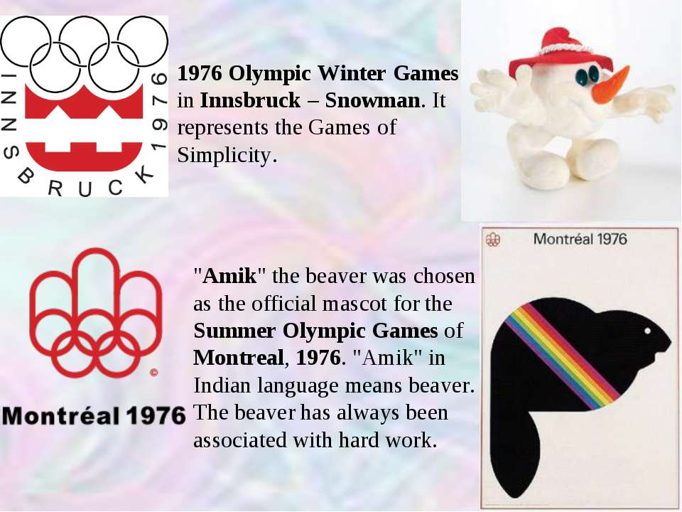 1976 Olympic Winter Games in Innsbruck – Snowman. It represents the Games of ...
