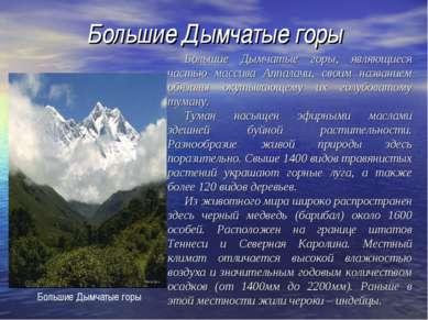 Большие Дымчатые горы Большие Дымчатые горы, являющиеся частью массива Аппала...