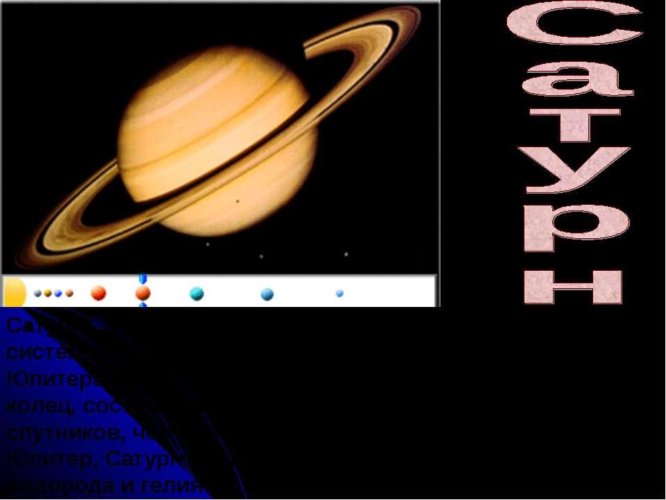 Сатурн - это вторая по величине планета Солнечной системы. Названный в честь ...