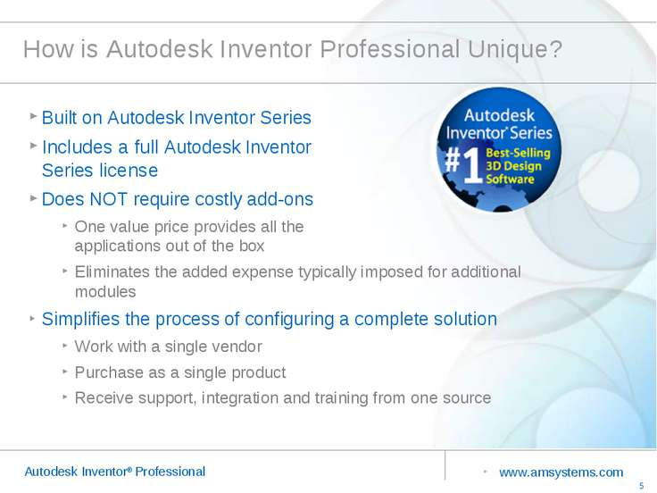 How is Autodesk Inventor Professional Unique? Built on Autodesk Inventor Seri...