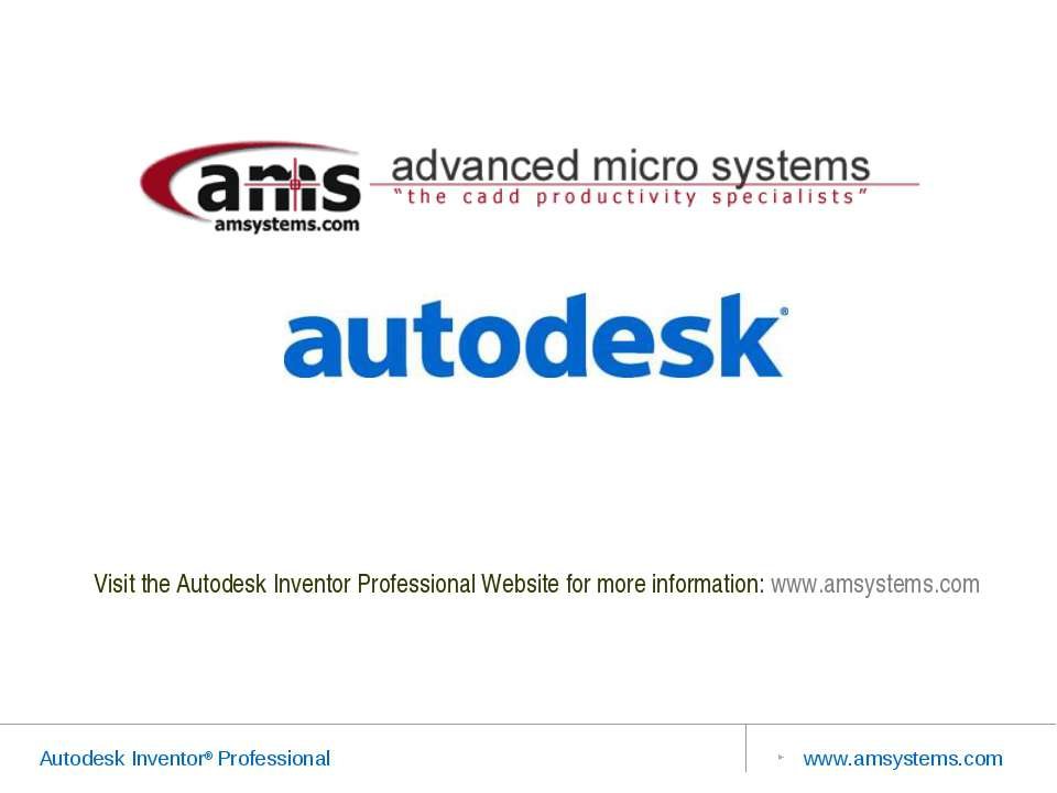 Visit the Autodesk Inventor Professional Website for more information: www.am...