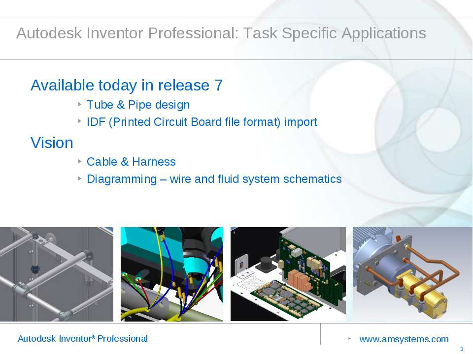 Autodesk Inventor Professional: Task Specific Applications Available today in...