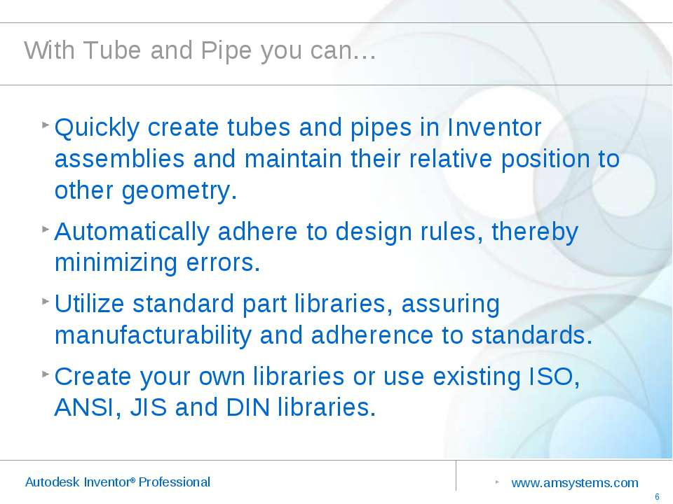 With Tube and Pipe you can… Quickly create tubes and pipes in Inventor assemb...
