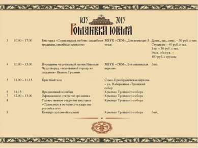 3 10.00 – 17.00 Выставка «Соликамская любовь: свадебные традиции, семейные це...