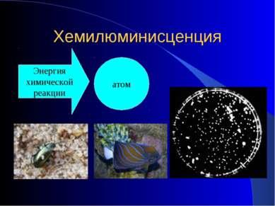 Хемилюминисценция Энергия химической реакции атом
