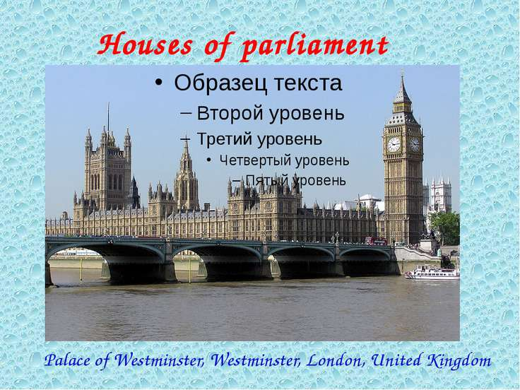 Palace of Westminster, Westminster, London, United Kingdom Houses of parliament