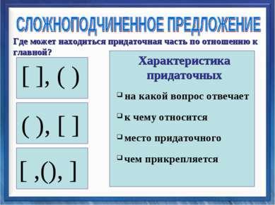 [ ], ( ) ( ), [ ] [ ,(), ] на какой вопрос отвечает к чему относится место пр...