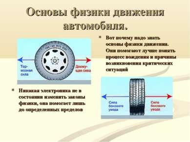 Основы физики движения автомобиля. Никакая электроника не в состоянии изменит...