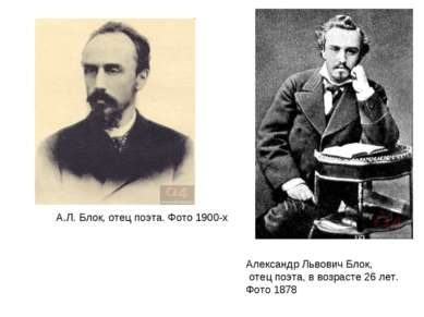 Александр Львович Блок, отец поэта, в возрасте 26 лет. Фото 1878 А.Л. Блок, о...