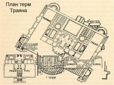 План терм Траяна