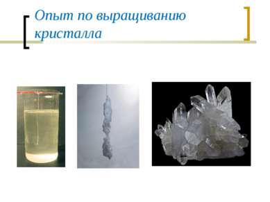 Опыт по выращиванию кристалла