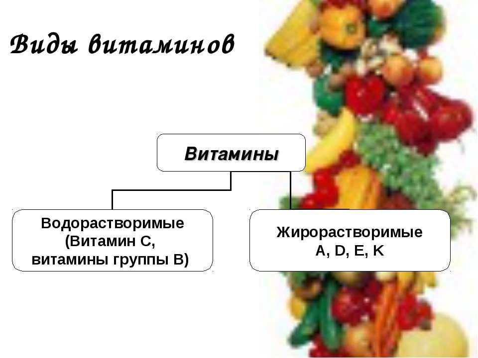 Виды витаминов
