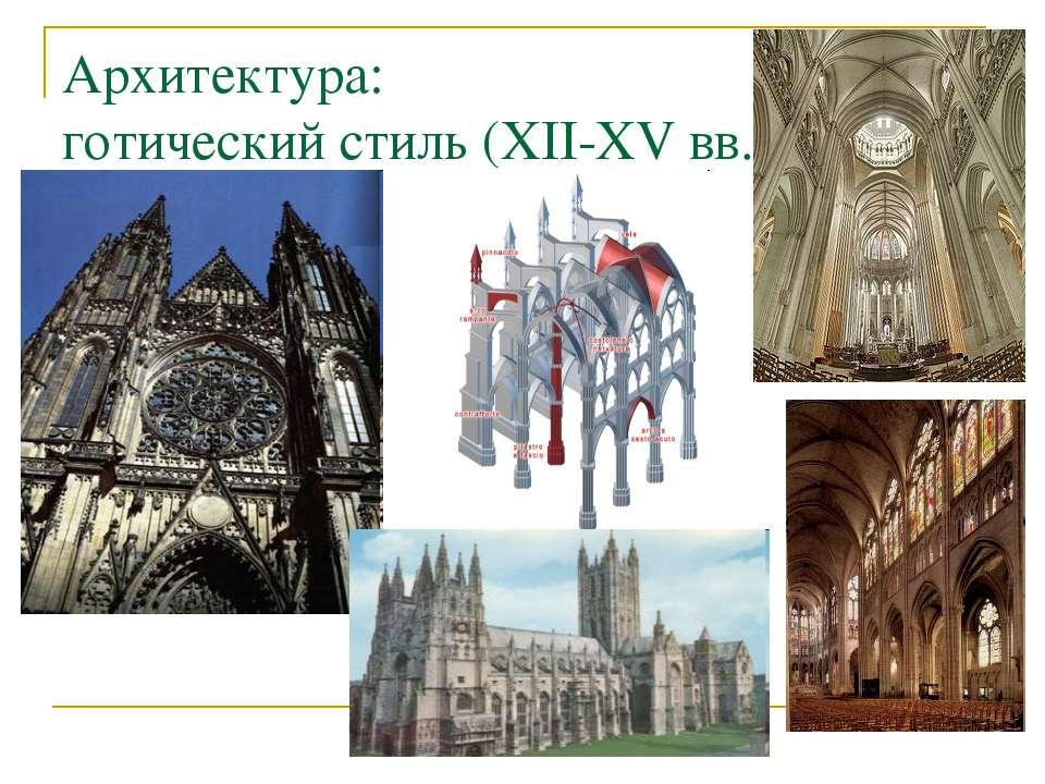 Архитектура: готический стиль (XII-XV вв.)