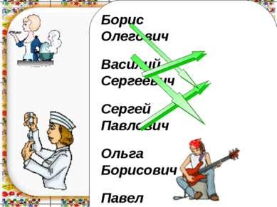 Борис Олегович Василий Сергеевич Сергей Павлович Ольга Борисович Павел Василь...