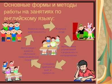 Основные формы и методы работы на занятиях по английскому языку: