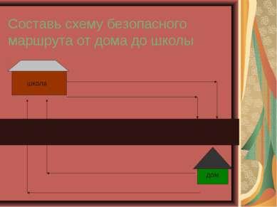 Составь схему безопасного маршрута от дома до школы дом школа 3