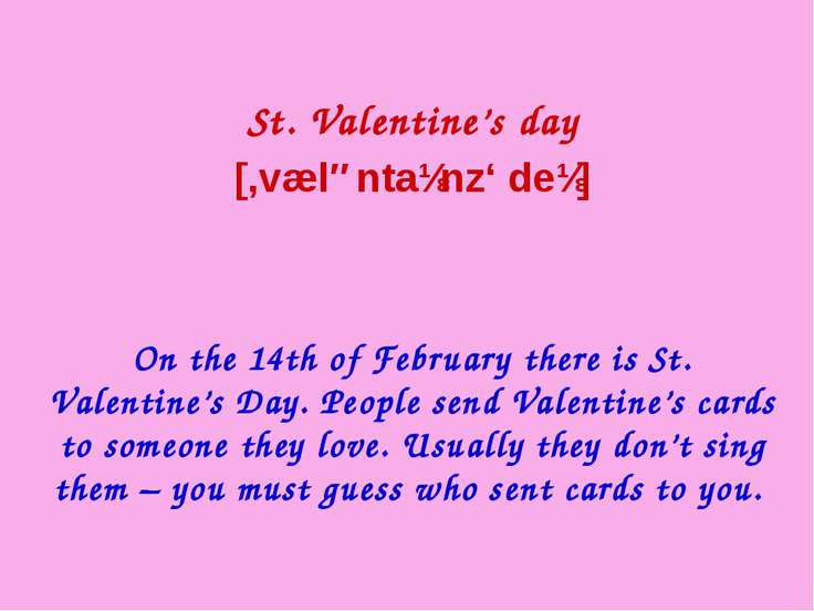 Symbols of St.Valentine's Day