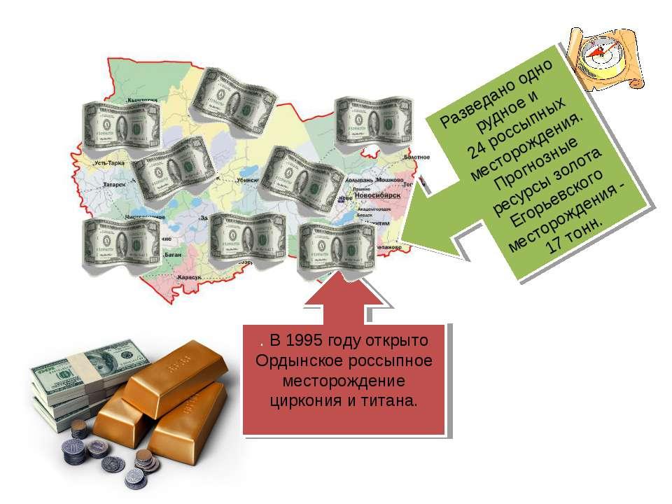 . В 1995 году открыто Ордынское россыпное месторождение циркония и титана. Ра...