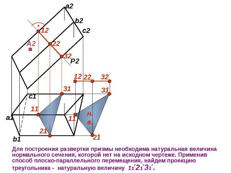 P2 12 22 32 А2 Для построения развертки призмы необходима натуральная величин...