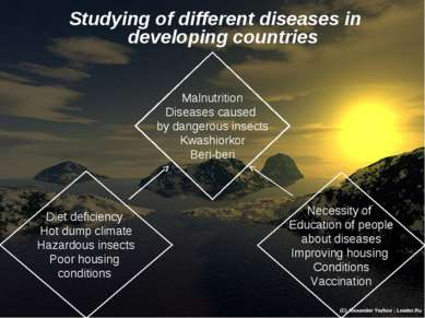 Studying of different diseases in developing countries Diet deficiency Hot du...