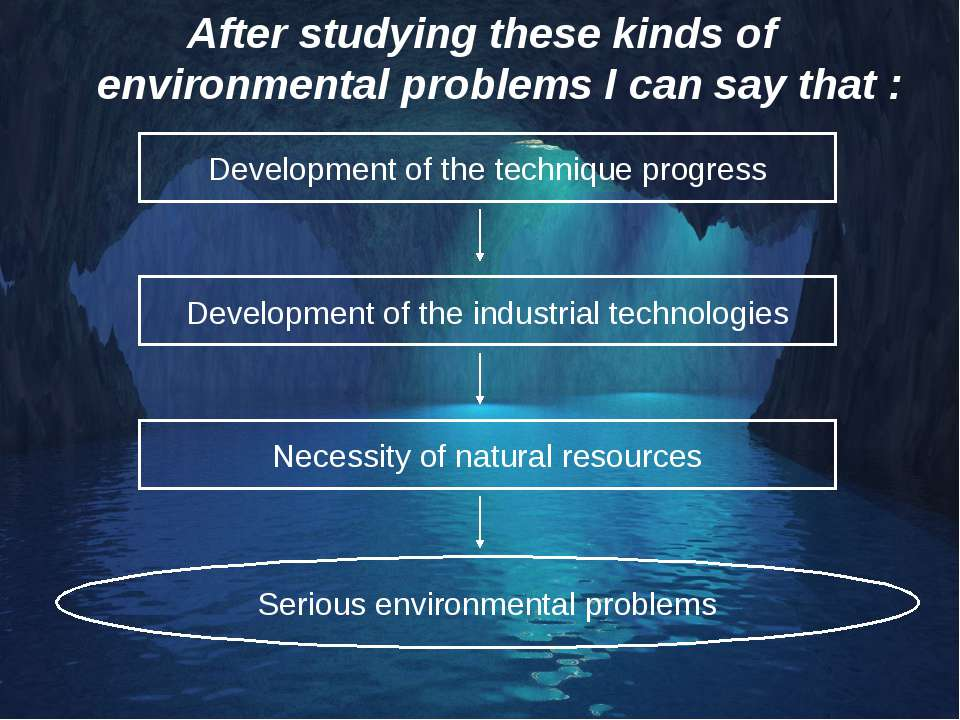 After studying these kinds of environmental problems I can say that : Develop...