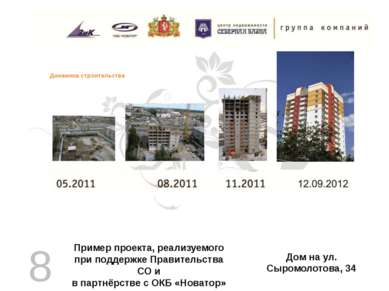 Дом на ул. Сыромолотова, 34 Пример проекта, реализуемого при поддержке Правит...