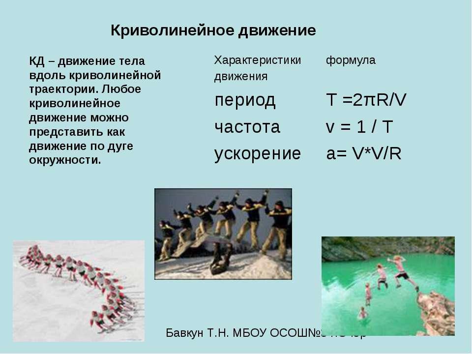 Криволинейное движение КД – движение тела вдоль криволинейной траектории. Люб...