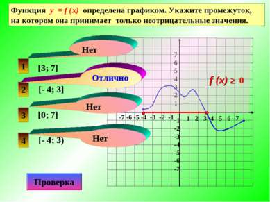 Функция у = f (x) определена графиком. Укажите промежуток, на котором она при...