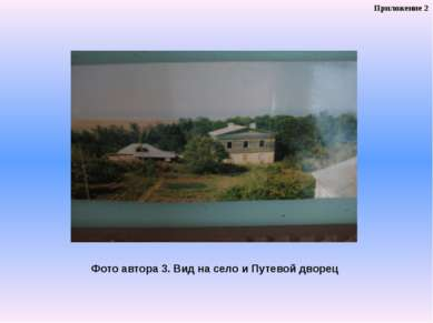 Фото автора 3. Вид на село и Путевой дворец Приложение 2