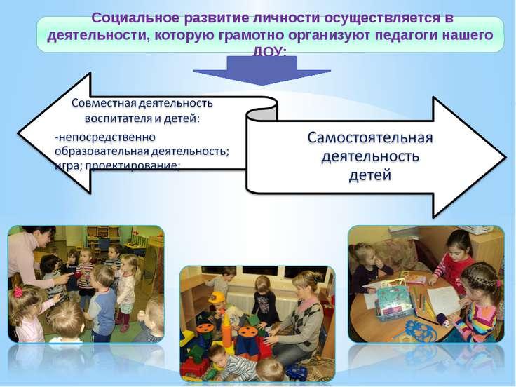 Социальное развитие личности осуществляется в деятельности, которую грамотно ...