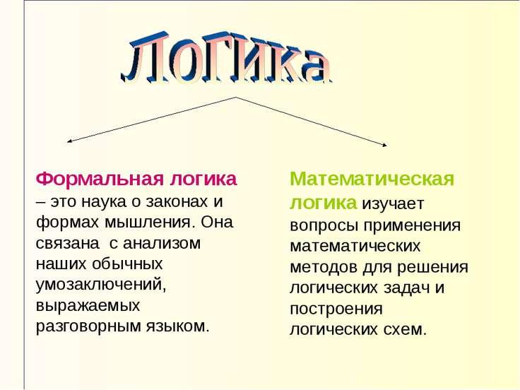 Формальная логика – это наука о законах и формах мышления. Она связана с анал...
