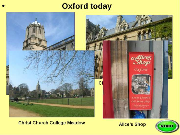 Oxford today Tom's Tower Christ Church College Christ Church College Meadow A...