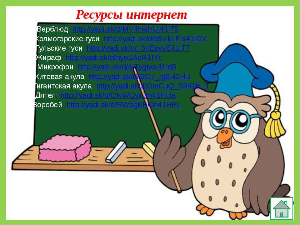 Ресурсы интернет Верблюд http://yadi.sk/d/MV4HaHUj41I75 Холмогорские гуси htt...