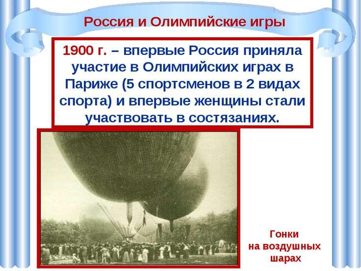 1900 г. – впервые Россия приняла участие в Олимпийских играх в Париже (5 спор...