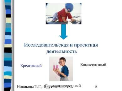 Исследовательская и проектная деятельность Креативный Компетентный Социализир...
