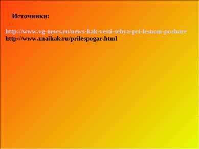 Источники: http://www.vg-news.ru/news-kak-vesti-sebya-pri-lesnom-pozhare http...