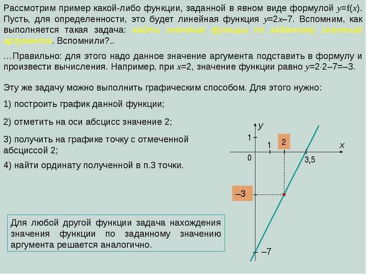 Рассмотрим пример какой-либо функции, заданной в явном виде формулой y=f(x). ...