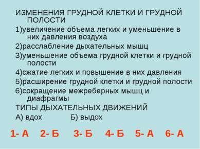 ИЗМЕНЕНИЯ ГРУДНОЙ КЛЕТКИ И ГРУДНОЙ ПОЛОСТИ 1)увеличение объема легких и умень...