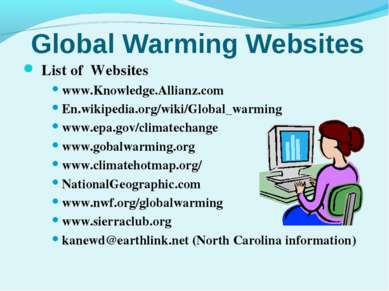 Global Warming Websites List of Websites www.Knowledge.Allianz.com En.wikiped...