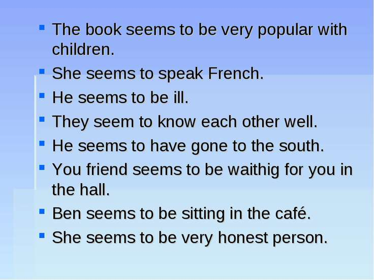 The book seems to be very popular with children. She seems to speak French. H...