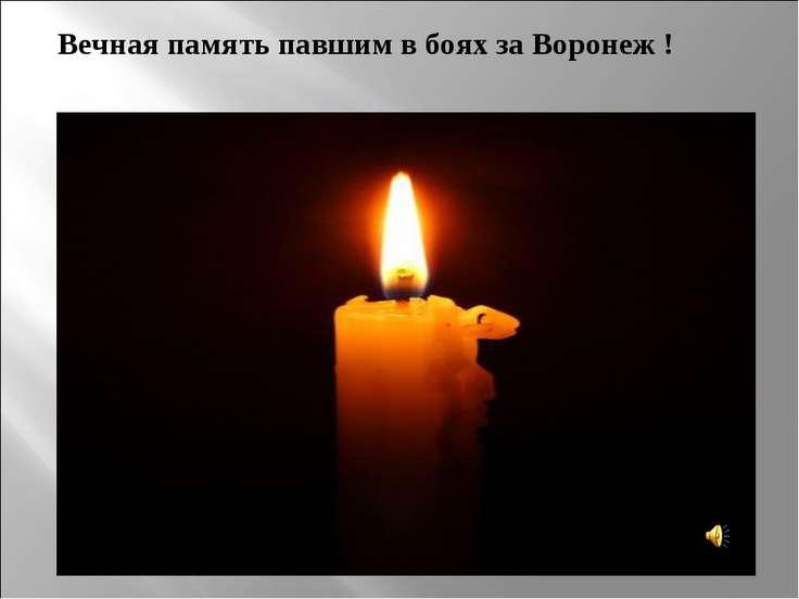 Вечная память павшим в боях за Воронеж !