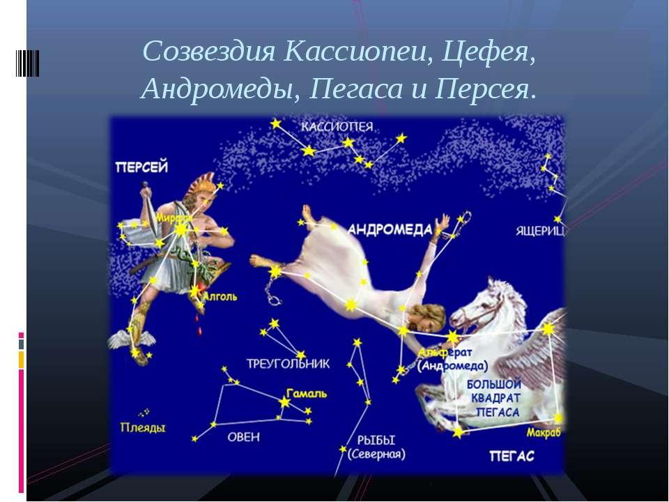 Созвездия Кассиопеи, Цефея, Андромеды, Пегаса и Персея.