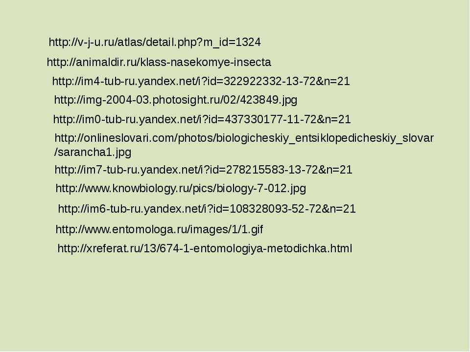 http://v-j-u.ru/atlas/detail.php?m_id=1324 http://animaldir.ru/klass-nasekomy...