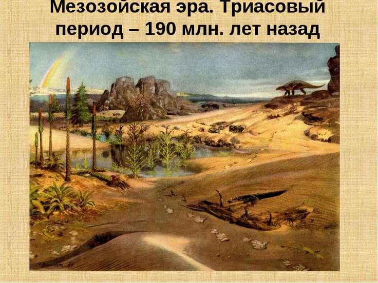 Мезозойская эра. Триасовый период – 190 млн. лет назад