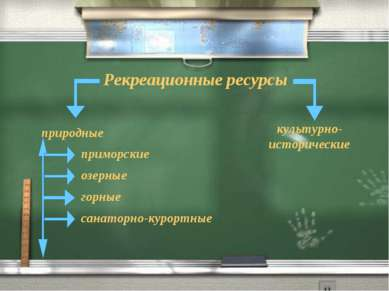 Рекреационные ресурсы природные культурно- исторические приморские озерные го...